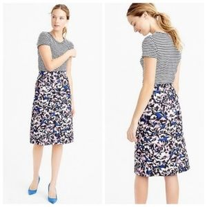 J. Crew A-line skirt in Hibiscus Print
